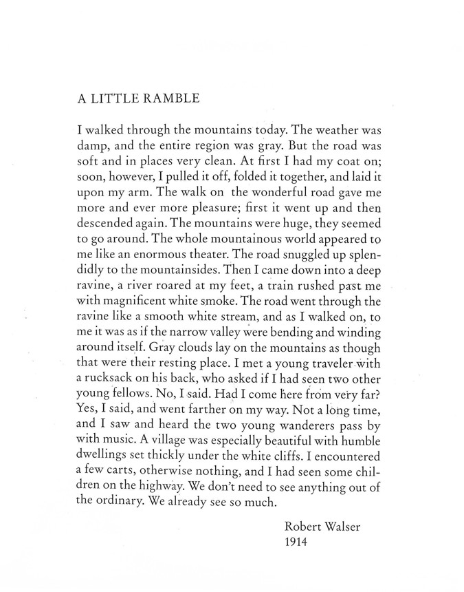 A Little Ramble