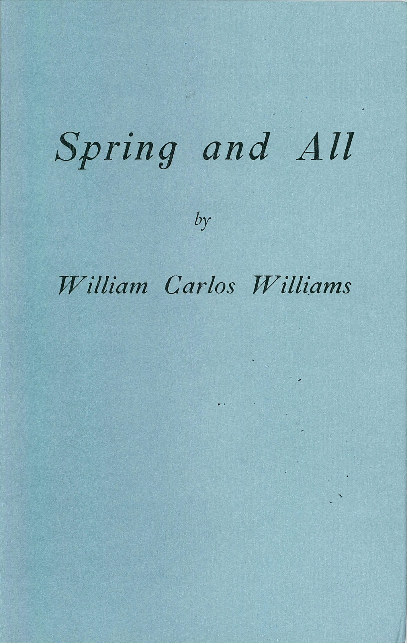 New Directions Publishing Spring And All