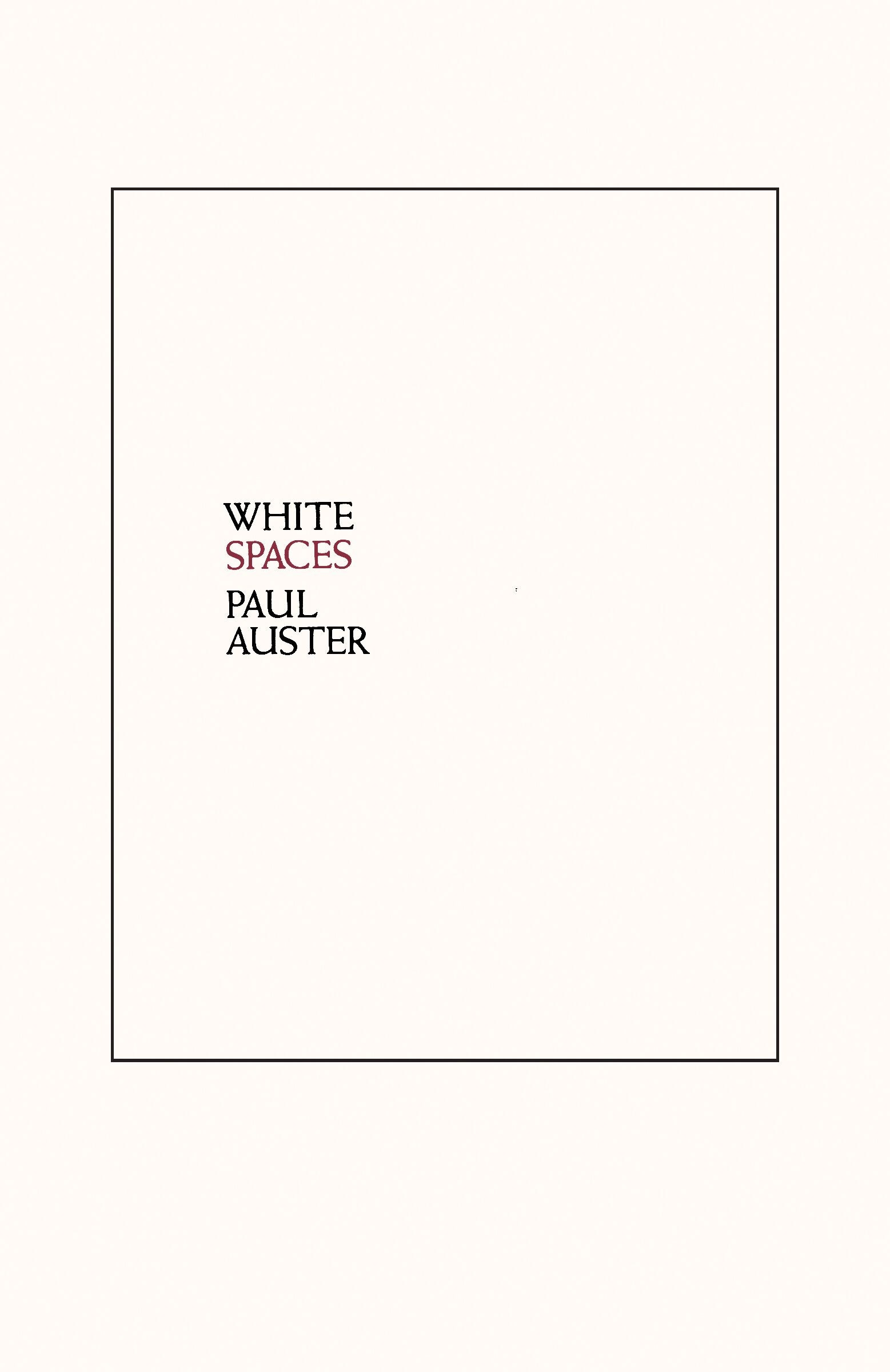 New Directions Publishing White Spaces Selected Poems And